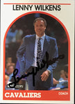 Lenny Wilkens Signed 1989 NBA Hoops Card