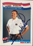 Lenny Wilkens Signed 1991 NBA Hoops Card