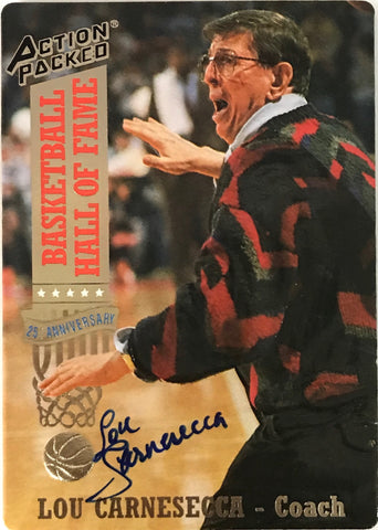 Lou Carnesecca Signed 1993 Action Packed Card