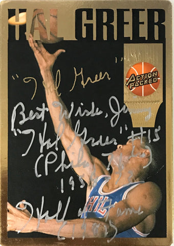 Hal Greer Signed 1994 Action Packed Card