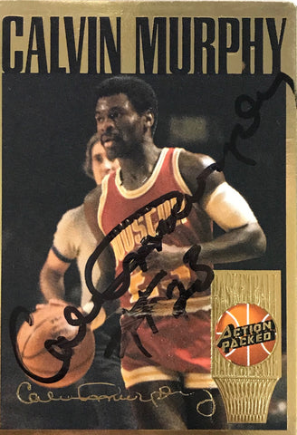 Calvin Murphy Signed 1994 Action Packed Card