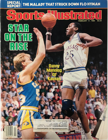 Danny Manning Unsigned Sports Illustrated Magazine February 17 1986