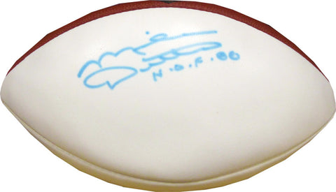 Mike Ditka Autographed White Panel Football