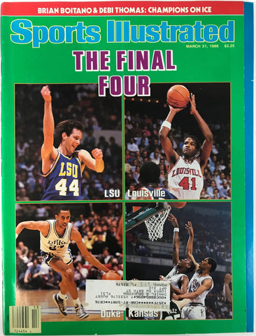 The Final Four Unsigned Sports Illustrated March 31 1986