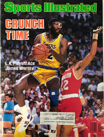 James Worthy unsigned Sports Illustrated Magazine May 19 1986