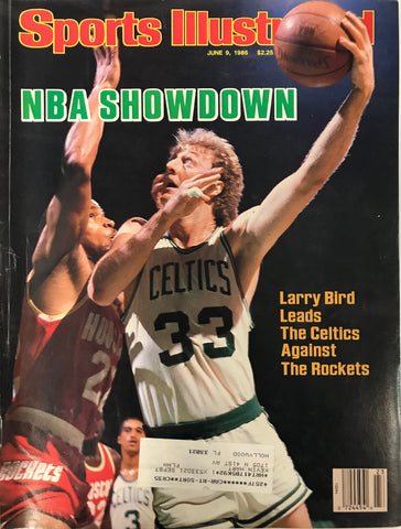 Larry Bird Unsigned Sports Illustrated Magazine June 9 1986