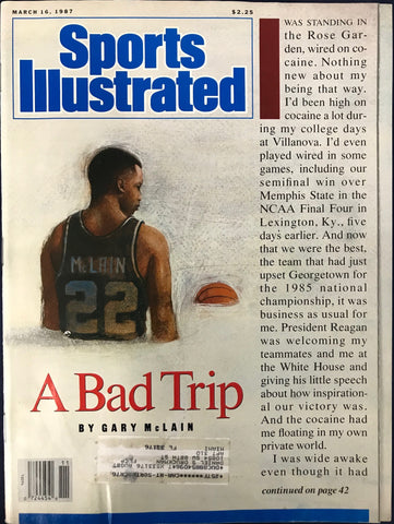 Gary McLain Unsigned Sports Illustrated Magazine March 16 1987