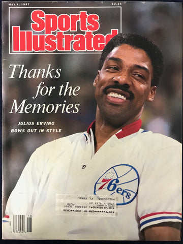 Julius Erving unsigned Sports Illustrated May 4 1987