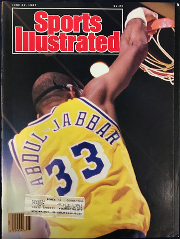 Kareem Abdul-Jabbar Unsigned Sports Illustrated Magazine June 22 1987