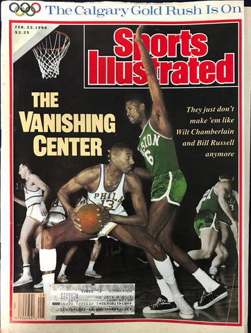 Wilt Chamberlain & Bill Russell Unsigned Sports Illustrated February 22 1988