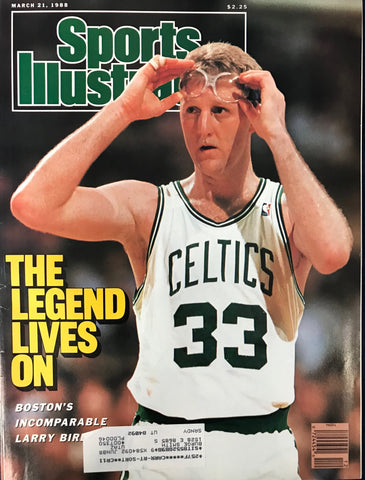 Larry Bird Unsigned Sports Illustrated Magazine March 21 1988