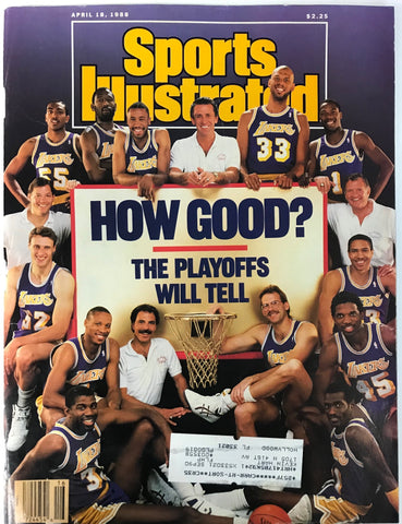 Los Angeles Lakers Unsigned Sports Illustrated Magazine April 18 1988
