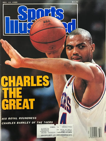 Charles Barkley Unsigned Sports Illustrated Magazine December 12 1988