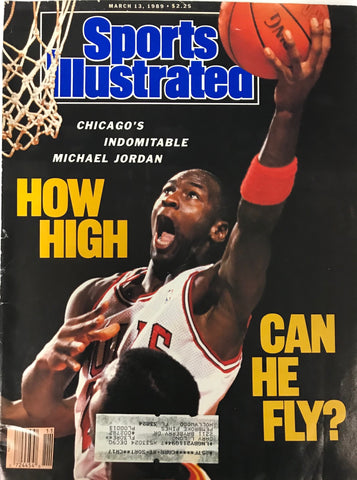 Michael Jordan Unsigned Sports Illustrated Magazine March 13 1989