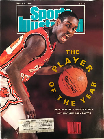 Gary Payton Unsigned Sports Illustrated Magazine March 5 1990