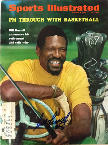 Bill Russell Signed Sports Illustrated August 4 1969