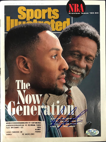 Bill Russell Signed Sports Illustrated November 8 1993