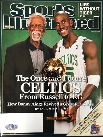 Bill Russell Signed Sports Illustrated June 30 2008