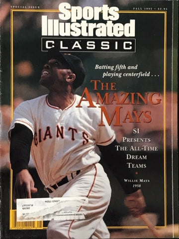 Willie Mays unsigned Sports Illustrated Magazine Fall 1992