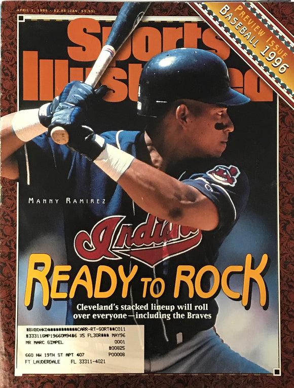 Manny Ramirez Unsigned Sports Illustrated Magazine April 1 1996