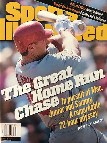 Mark McGwire Unsigned Sports Illustrated Magazine August 3, 1998