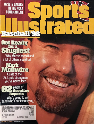 Mark McGwire unsigned Sports Illustrated  March 23 1998