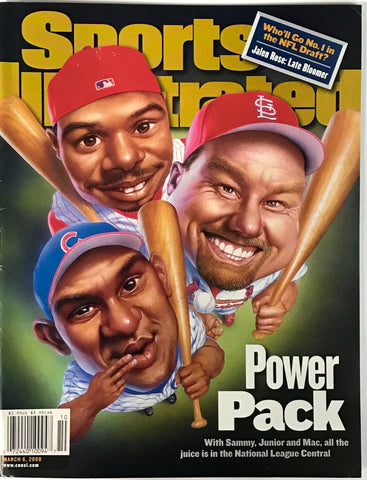 Ken Griffey Jr Mark McGwire & Sammy Sosa Unsigned Sports Illustrated March 6 2000