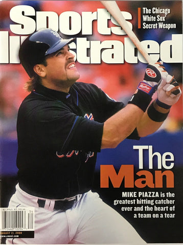 Mike Piazza Unsigned Sports Illustrated August 21 2000