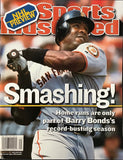 Barry Bonds Unsigned Sports Illustrated Magazine October 8 2001
