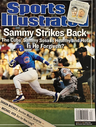 Sammy Sosa Unsigned Sports Illustrated Magazine August 25, 2003