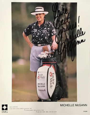 Michelle McGann Signed Golf 8x10 Photo