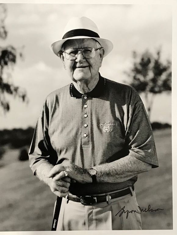 Byron Nelson Signed Golf 8x10 Photo
