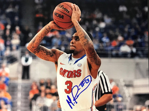 Mike Rosario Signed Basketball 8x10 Photo Florida Gators