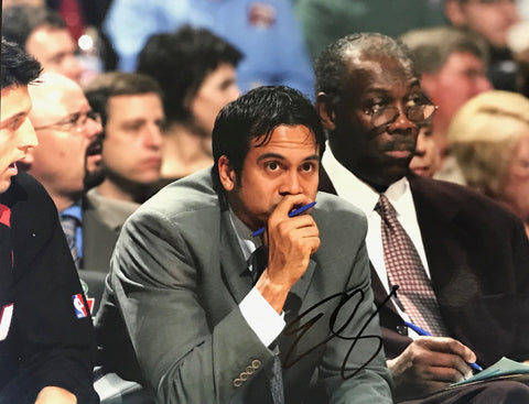 Erik Spoelstra Signed Basketball 8x10 Photo Miami Heat