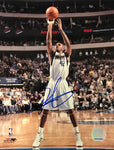 Jerry Stackhouse Signed Basketball 8x10 Photo Dallas Mavericks