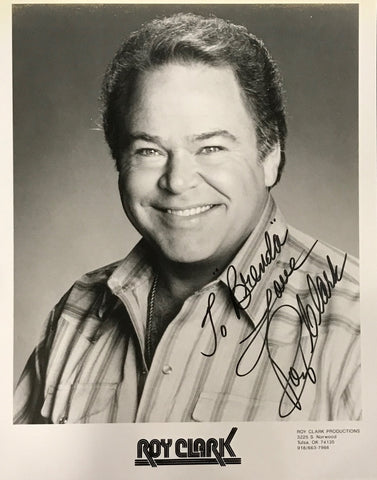 Roy Clark Signed 8x10 Photo Singer & Musician