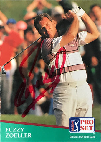 Fuzzy Zoeller Signed 1991 Pro Set Card