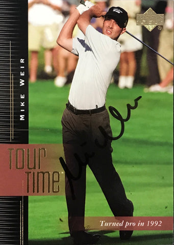 Mike Weir Signed 2001 Upper Deck Card