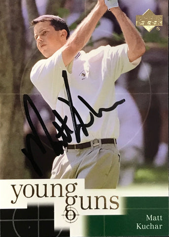 Matt Kuchar Signed 2001 Upper Deck Card