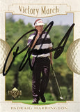 Padraig Harrington Signed 2001 Upper Deck Card
