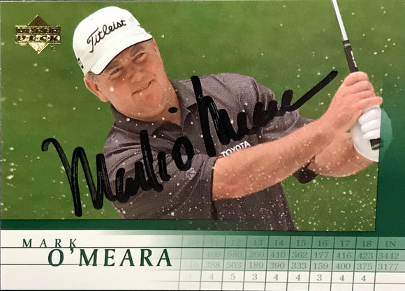 Mark O'Meara Signed 2001 Upper Deck Card