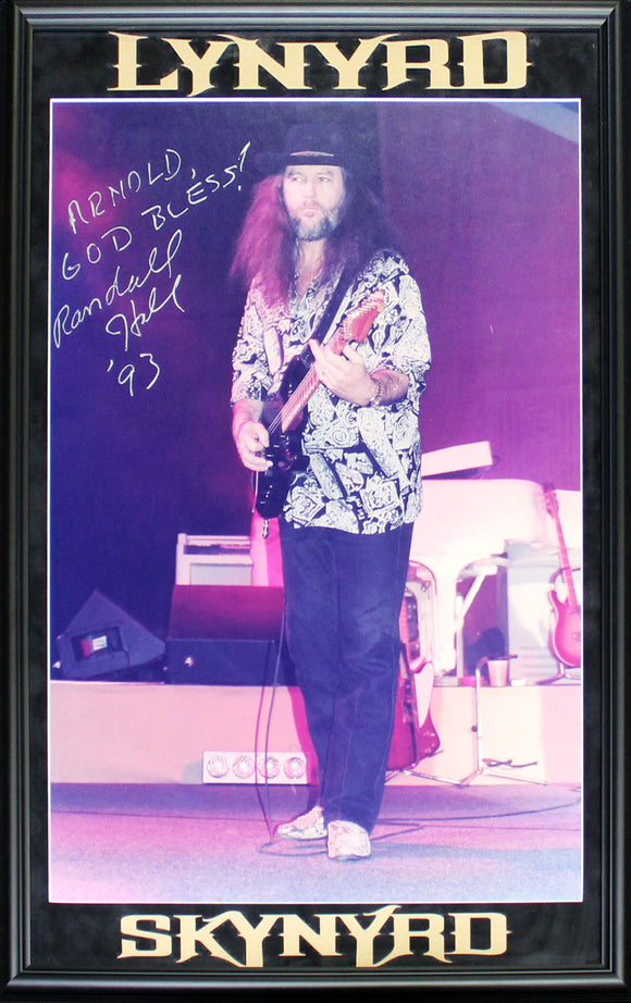 Randall Hall Autographed Framed 20x32 Lynyrd Skynyrd Photo