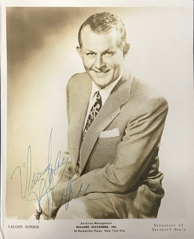 Vaughn Monroe Signed 8x10 Photo