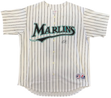 Emilio Bonifacio Autographed Authentic Florida Marlins White Jersey