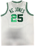 KC Jones Autographed White Boston Celtics Jersey