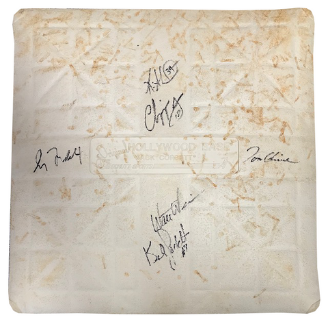 Atlanta Braves Autographed 1999 World Series Game Used Base