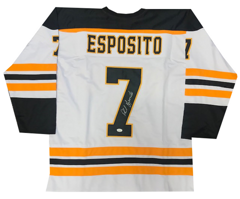 Phil Esposito Autographed Boston Bruins Jersey (JSA)