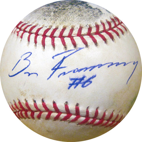 Bruce Froemming Autographed Baseball