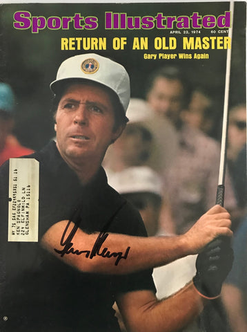 Gary Player Autographed / Signed Sports Illustrated - April 22 1974