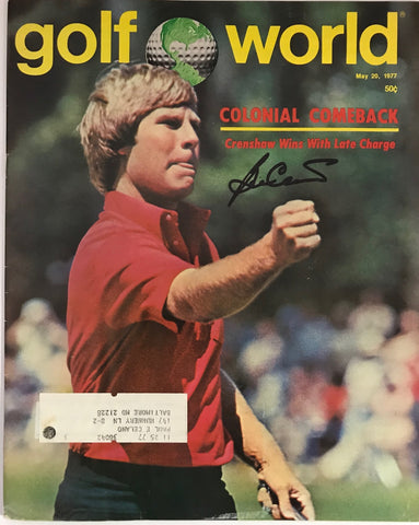 Ben Crenshaw Autographed Golf World Magazine May 20 1977